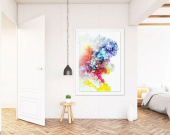 Large Art Print, FRAMED Rainbow Art, Vertical Art, Giclee Print, Large Scale Photography, Large Scale Wall Art