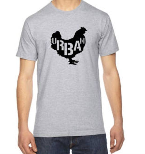 URBAN chicken FARMER Unisex t-shirt pictured in Heather Grey