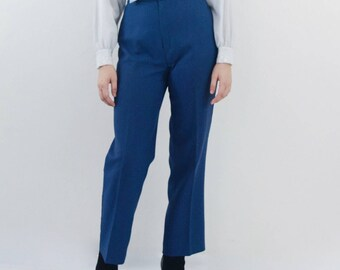 SALE high waisted trousers | blue high waist pants, small - medium