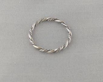 Sterling Silver Braid Twist Thumb Ring