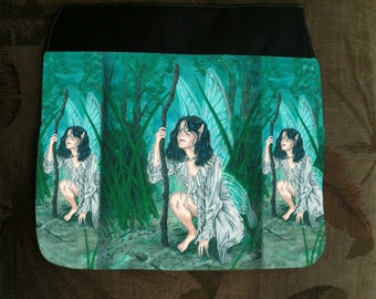 Fairy Guide, Extra Hand Pressed Purse Flap For Our Art Shoulder Bag