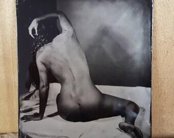 Nude model figure study tintype Monique-02