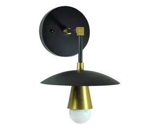 BRAVO - Matte Black Vanity Wall Sconce - UL Listed, Accent Lighting, Mid-Century Modern Light