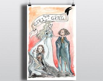 House Girl Gang - 11x17 Art Print - Discontinued