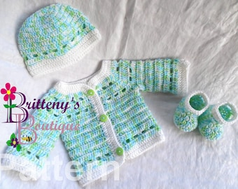 Baby Boy Crochet Pattern Cardigan Sweater Crochet Pattern Baby Boy Cardigan Sweater Crochet Pattern Prince Charming Baby Cardigan Pattern