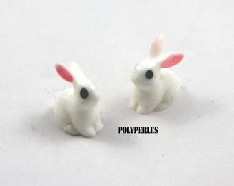 1 polymer clay White Rabbit