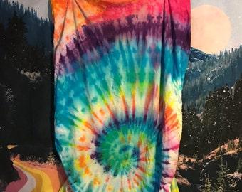 rainbow tie dye crib sheet