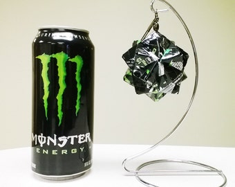 Monster Energy Drink Ornament // Origami Christmas Ornament // Upcycled Recycled Repurposed Art // Easter // weird gifts
