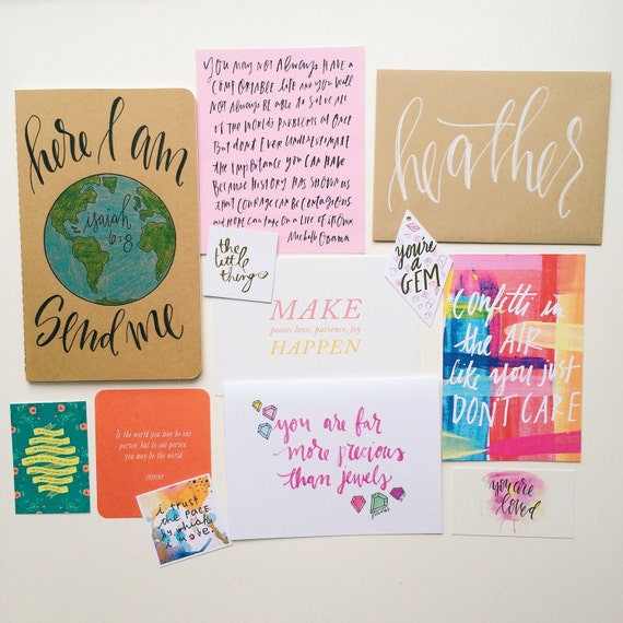 Missionary gift set, encouragement pack for missionaries, mission trips, prayer journal and scripture card set, Christian graduation gift