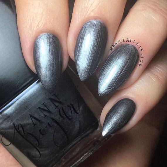 BRONCE gris esmalte de uñas laca de uñas brillo esmalte de