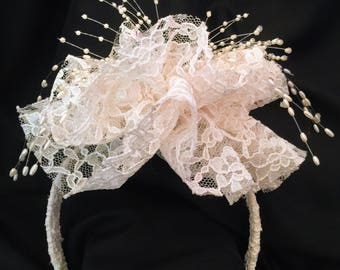 Pearls and Lace Headband