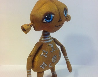 OOAK fantasy creature fantasy doll monster cute creature strange creature cloth doll art doll Art creatures doll rag doll whimsical doll