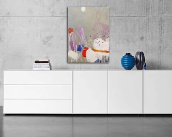 Original, abstract art, acrylic painting, abstract painting, modern art painting, Sweet dream