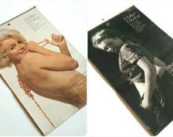 Vintage 1974 Marilyn Monroe Pin Up Calender, Marilyn Monroe Vintage Photos, Norma Jean Modeling, Vintage Pin Up Calender, Red Velvet Marilyn