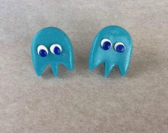 Call me Inky: Pac Man Ghost Stud Earrings