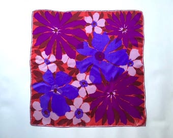 Bold and Beautiful Vera Silk Floral Scarf
