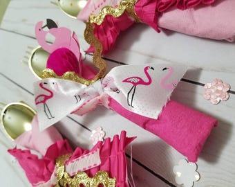 Flamingo Party Flatware Pink Flamingos Decorations Flamingo Banner Lets Flamingle Party Napkins Tropical Party Ideas Flamingo Bridal Shower