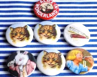 Lot of Alice of Wonderland Badges