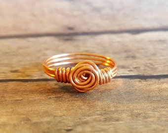 Copper ring, wire wrapped ring, copper jewelry, wire ring, copper jewelry, ring
