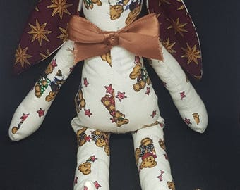 Teddy Bear Print 100% Cotton Bunny