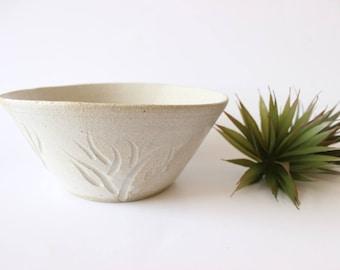 Stoneware Bowl Hand Thrown Gray Bowl Studio Pottery Large Serving Bowl Boho Home Decor