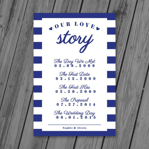 Love Story Sign Love Story Timeline Wedding Poster Wedding