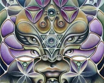 "12""x16"" Eco Art Print - ""Avatara"" by JAH Ishka Lha"