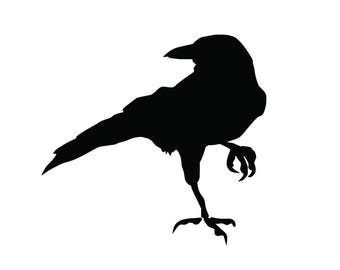 Crow Raven Blackbird Vinyl Decal any color bumper sticker bird animal