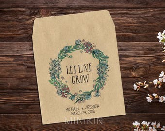 Seed Favor, Wedding Seed Packet, Custom Seed Packets, Boho Wedding, Personalized Favor, Custom Seed Wedding Favor, Wedding Favor x 25