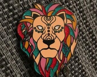Bassnectar Spirit Lion Pin - Glitter