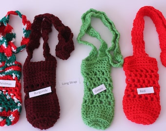 Crochet Bottle Holders - Long Strap