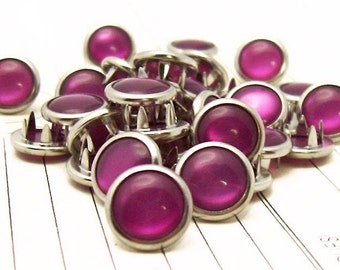 24 Berry Cowgirl Snaps Pearl Prong Western Snaps