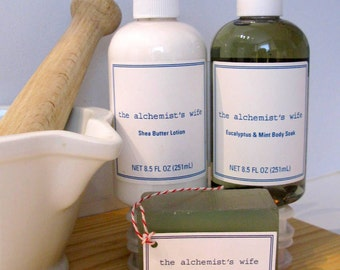 Bath gift set | Spring Stress Relief Set | Spa Gift Set | Natural Soap | Shea Butter Lotion | Bath Soak |