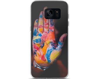 Colorful Palm Color Blasted Artists Hand Samsung Case