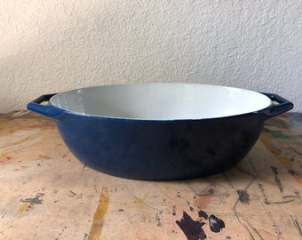 Vintage Blue Copco Cookware by Michael Lax Denmark, MID Century Modern Enamelware