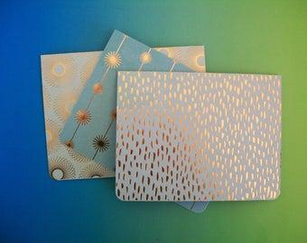 Metallic Notecard Set - Set of six cards