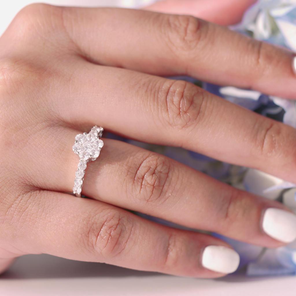 Delicate Dainty Ring Sparkling Stones Minimal Contemporary