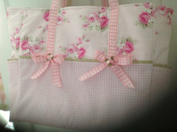 pink shabby chic diaper bag set rh etsy com