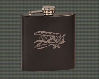 Stainless Steel Flask - Airplane Designs