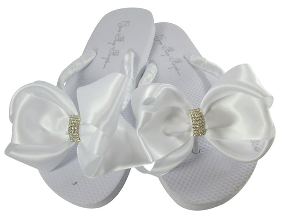 sizes and girls and vintage women Flops flat platform colors flower selection Ivory Bridal of or Flip white heel embellishment for best U6ZqURHx8w