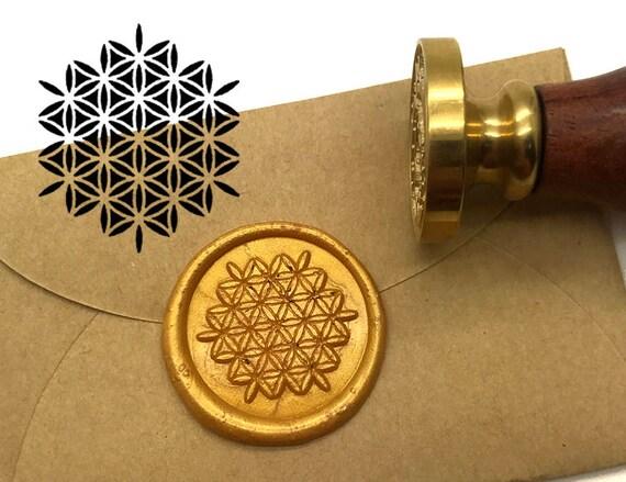 s1496 flower of life wax seal stamp kit wedding invitation
