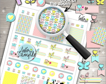 60%OFF - Floral Stickers, Printable Planner Stickers, Weekly Stickers, Flower Stickers, Spring Stickers, Planner Accessories, Kit