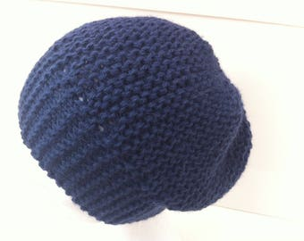 Denim Blue alpaca wool hat