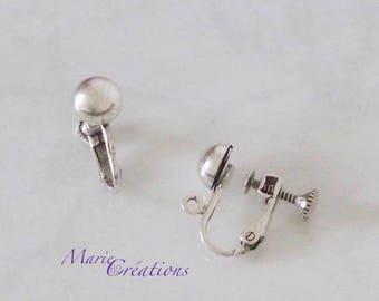 Silver clip - screw setting / finishing ball 7 mm