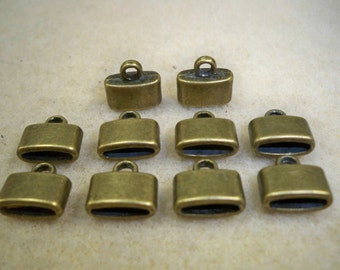 Glue in cord ends Antique Gold plated 10pk Nickel Free