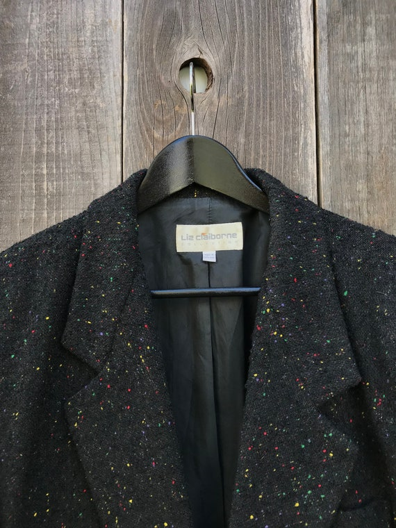 Wool Womens Vintage Womens 12 Colored Blazer Wonderful Multi Vintage Wool Clothing Blazer Blazer Speckled Speckled Womens x7v1H