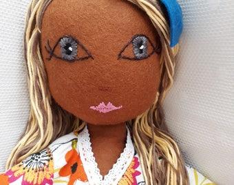 Handmade dolls, rag dolls, beautiful dolls, gift, wool felt, heirloom doll, personalised doll, fabric doll, birthday and christening present