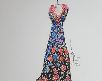 Marchesa Resort 2017 Runway Gown - Print