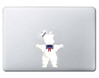 Apple of Ghostbusters (Stay Puft) Marshmallow snowman sticker