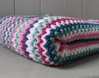 Handmade Crochet Blanket V-Stitch